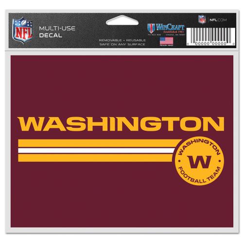 Washington Football Team Decal 5x6 Multi Use Color