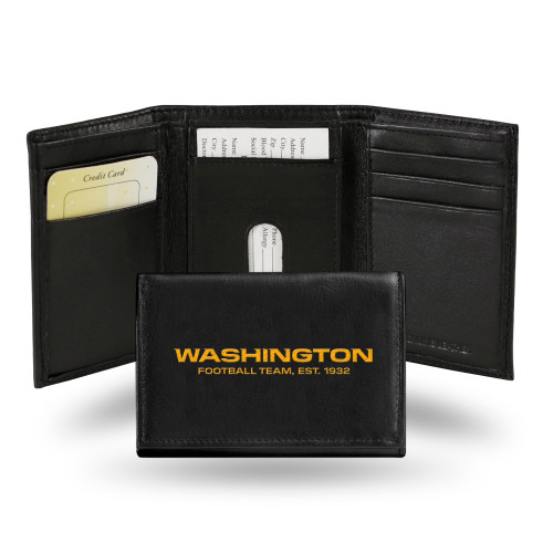 Washington Football Team Wallet Trifold Leather Embroidered
