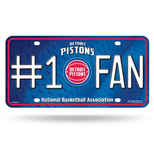 Detroit Pistons License Plate #1 Fan Special Order