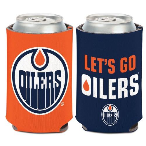 Edmonton Oilers Can Cooler Slogan Design Special Order