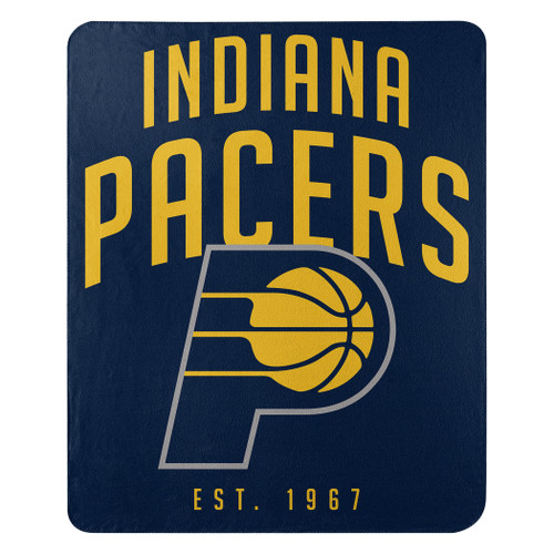 Indiana Pacers Blanket 50x60 Fleece Lay Up Design Special Order