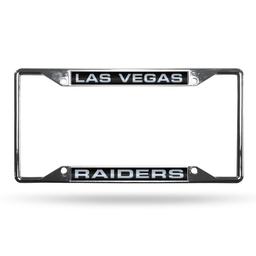 Las Vegas Raiders License Plate Frame Chrome Laser Cut EZ View Special Order
