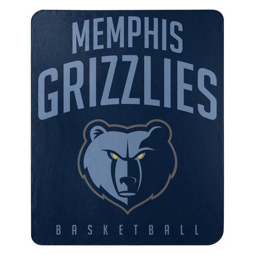 Memphis Grizzlies Blanket 50x60 Fleece Lay Up Design Special Order