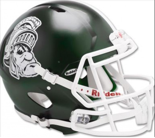 Michigan State Spartans Helmet Riddell Replica Full Size Speed Style Gruff Sparty Design Special Order