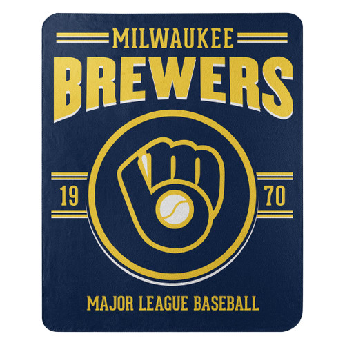 Milwaukee Brewers Blanket 50x60 Fleece Southpaw Design Special Order