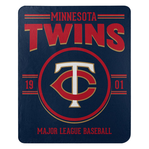 Minnesota Twins Blanket 50x60 Fleece Southpaw Design Special Order