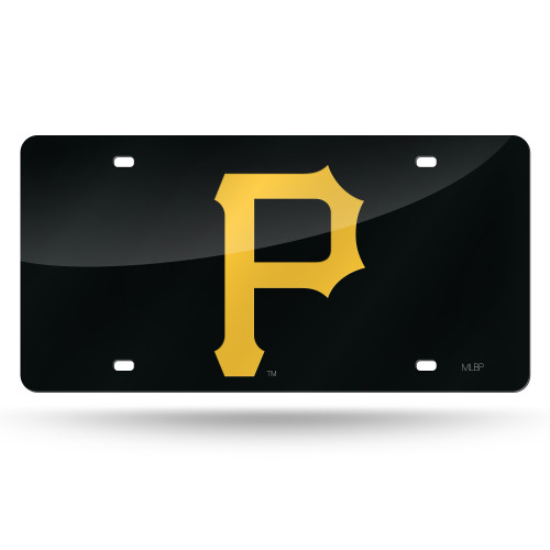 Pittsburgh Pirates License Plate Laser Cut Black P Logo Special Order