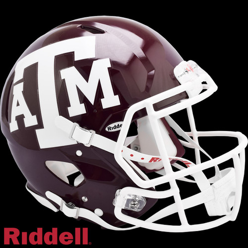 Texas A&M Aggies Helmet Riddell Authentic Full Size Speed Style Maroon Special Order