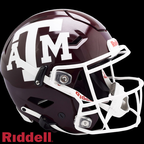 Texas A&M Aggies Helmet Riddell Authentic Full Size SpeedFlex Style Maroon Special Order