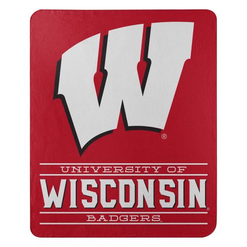 Wisconsin Badgers Blanket 50x60 Fleece Control Design Special Order