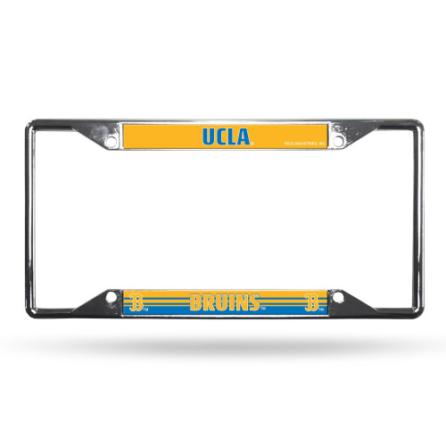 UCLA Bruins License Plate Frame Chrome EZ View Alternate Design