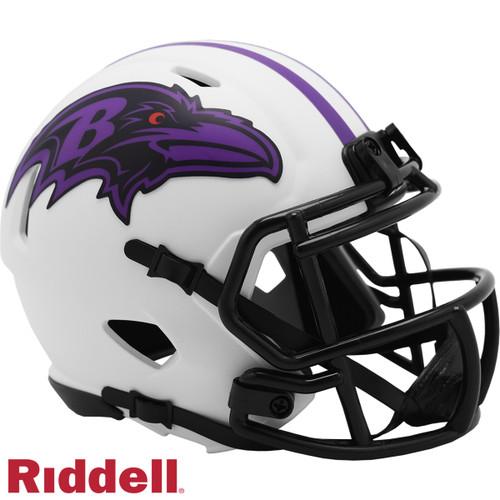 Baltimore Ravens Helmet Riddell Replica Mini Speed Style Lunar Eclipse Alternate