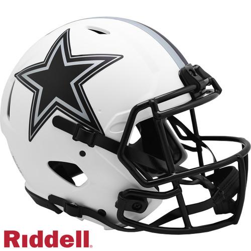 Dallas Cowboys Helmet Riddell Authentic Full Size Speed Style Lunar Eclipse Alternate