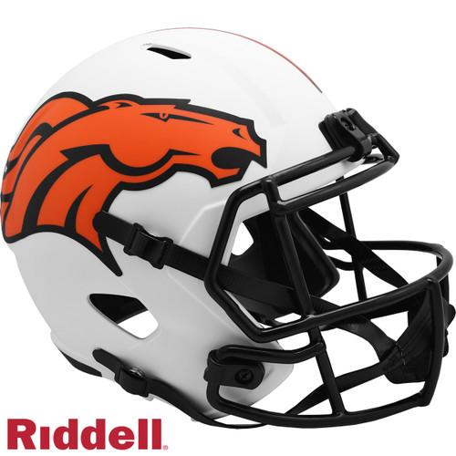 Denver Broncos Helmet Riddell Replica Full Size Speed Style Lunar Eclipse Alternate