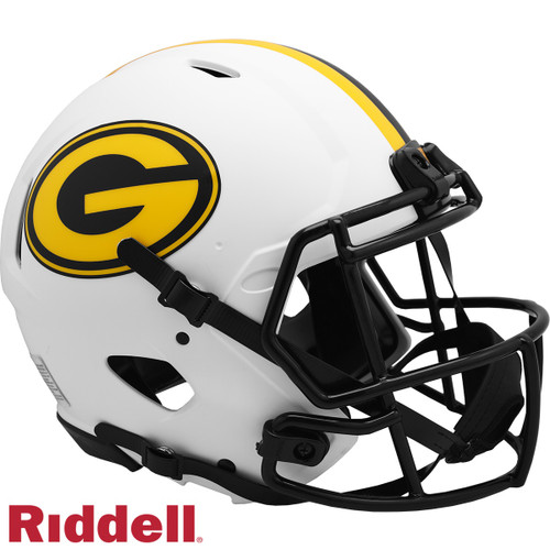 Green Bay Packers Helmet Riddell Authentic Full Size Speed Style Lunar Eclipse Alternate
