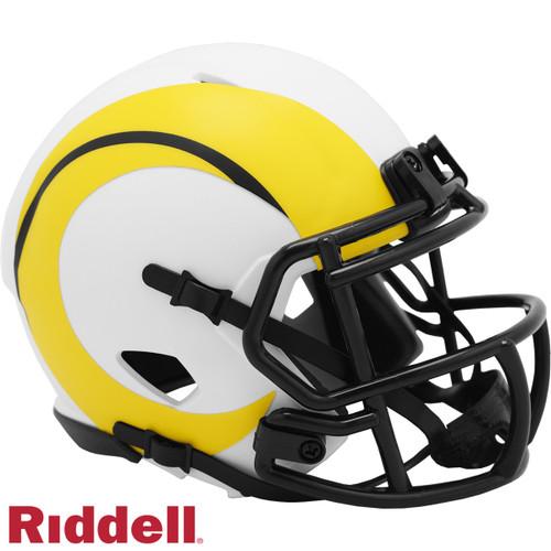 Los Angeles Rams Helmet Riddell Replica Mini Speed Style Lunar Eclipse Alternate
