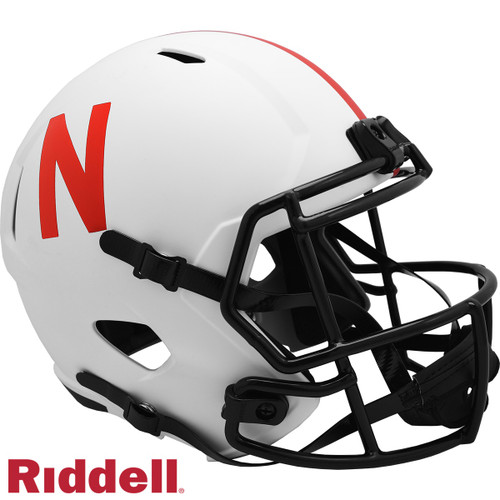 Nebraska Cornhuskers Helmet Riddell Replica Full Size Speed Style Lunar Eclipse Alternate