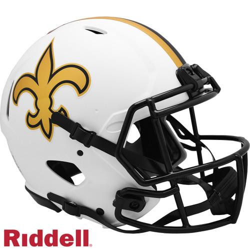 New Orleans Saints Helmet Riddell Authentic Full Size Speed Style Lunar Eclipse Alternate
