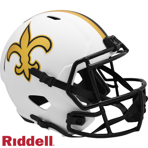 New Orleans Saints Helmet Riddell Replica Full Size Speed Style Lunar Eclipse Alternate