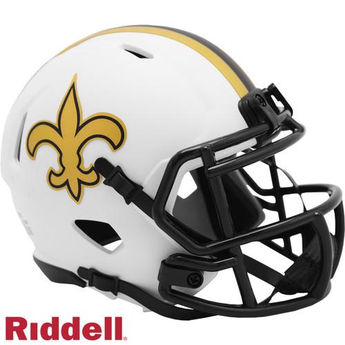 New Orleans Saints Helmet Riddell Replica Mini Speed Style Lunar Eclipse Alternate