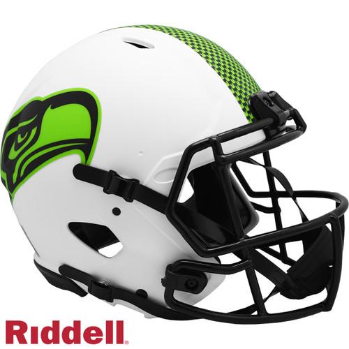 Seattle Seahawks Helmet Riddell Authentic Full Size Speed Style Lunar Eclipse Alternate
