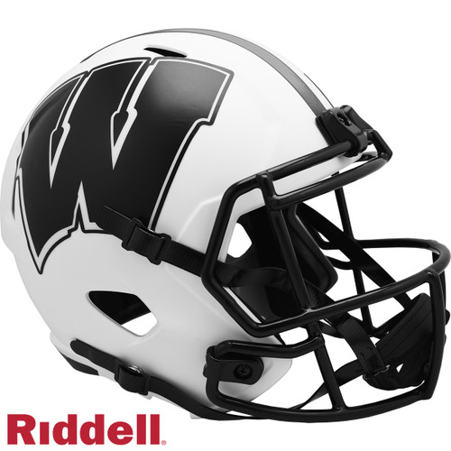 Wisconsin Badgers Helmet Riddell Replica Full Size Speed Style Lunar Eclipse Alternate