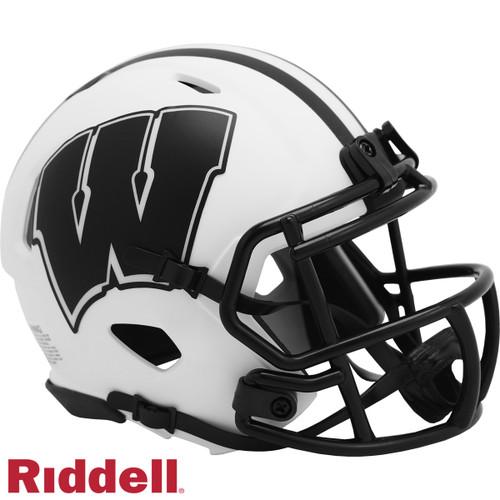 Wisconsin Badgers Helmet Riddell Replica Mini Speed Style Lunar Eclipse Alternate