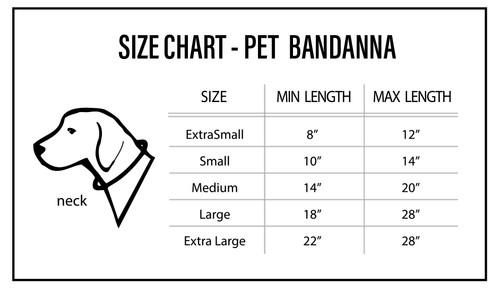 Tampa Bay Buccaneers Pet Bandanna Size M