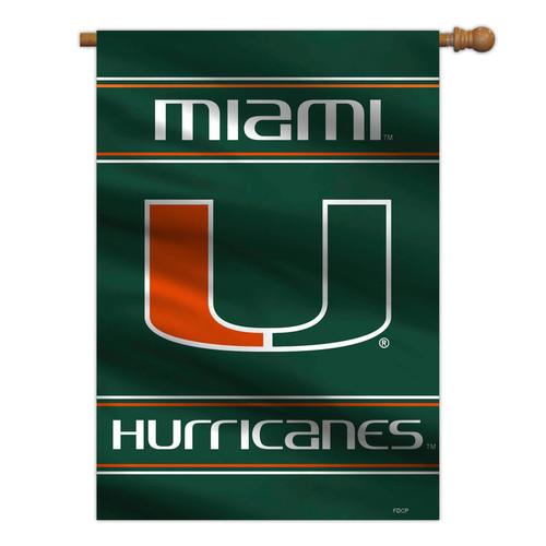 Miami Hurricanes Banner 28x40 House Flag Style 2 Sided