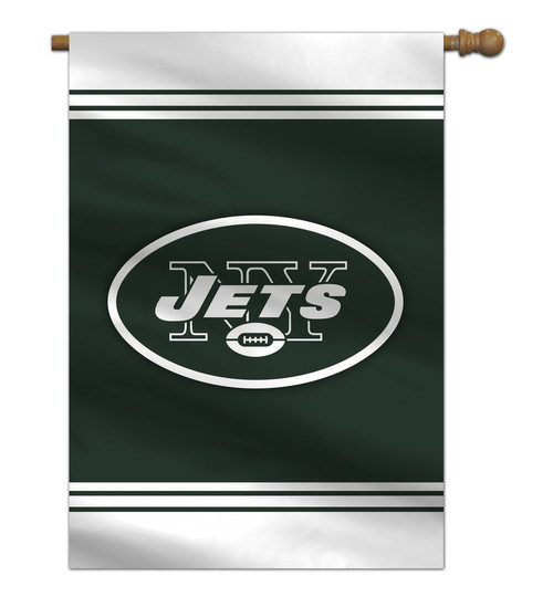 New York Jets Flag 28x40 House 1-Sided CO