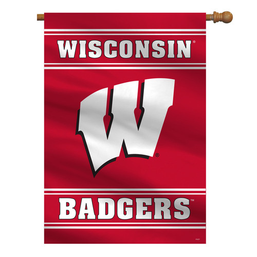 Wisconsin Badgers Banner 28x40 House Flag Style 2 Sided CO