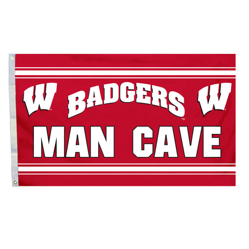 Wisconsin Badgers Flag 3x5 Banner Man Cave CO