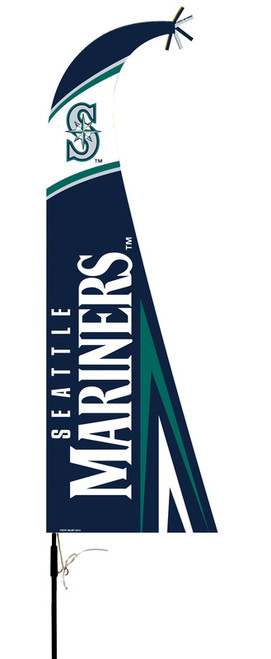 Seattle Mariners Flag Premium Feather Style