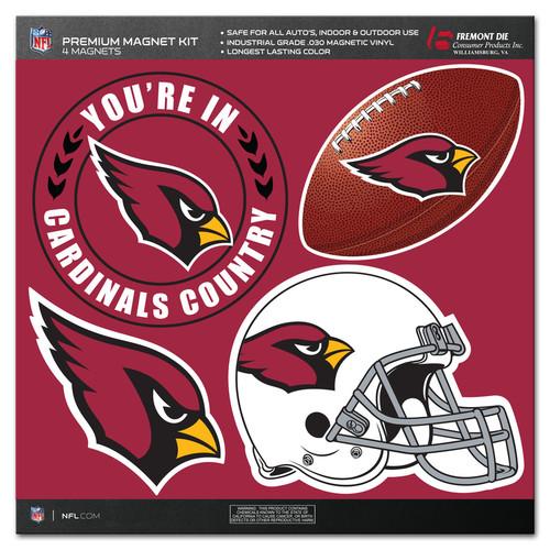 Arizona Cardinals Magnet Kit 4 Piece CO