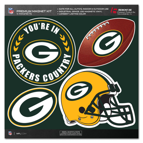 Green Bay Packers Magnet Kit 4 Piece CO