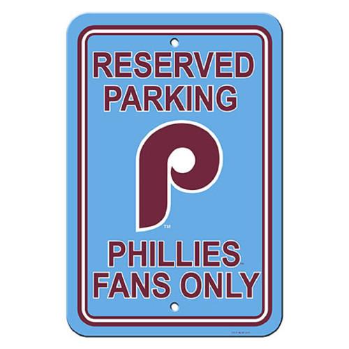 Philadelphia Phillies Sign 12x18 Plastic Reserved Parking Style Retro CO