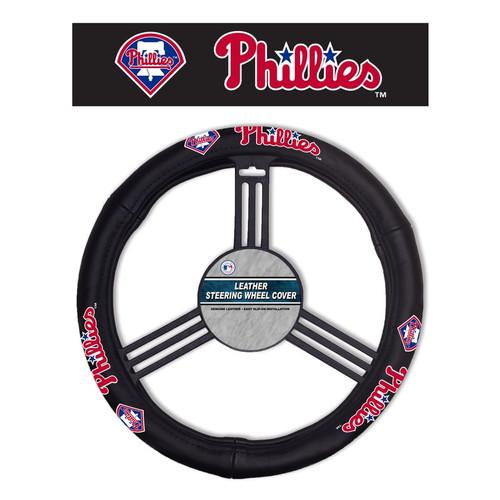 Philadelphia Phillies Steering Wheel Cover Leather CO
