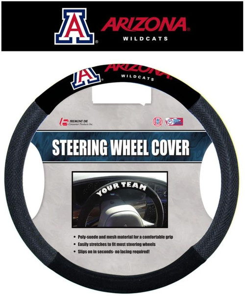 Arizona Wildcats Steering Wheel Cover Mesh Style