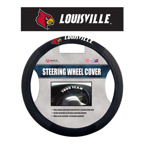 Louisville Cardinals Steering Wheel Cover Mesh Style