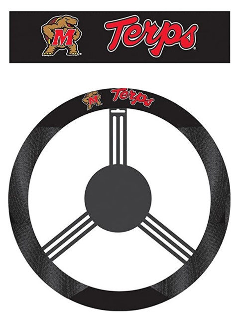 Maryland Terrapins Steering Wheel Cover Mesh Style