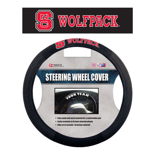 North Carolina State Wolfpack Steering Wheel Cover Mesh Style Alternate