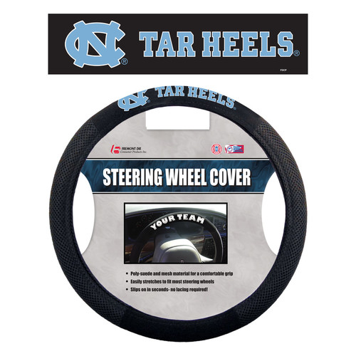 North Carolina Tar Heels Steering Wheel Cover Mesh Style Alternate