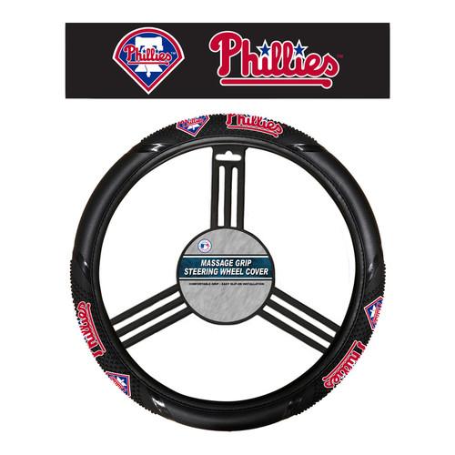 Philadelphia Phillies Steering Wheel Cover Massage Grip Style CO