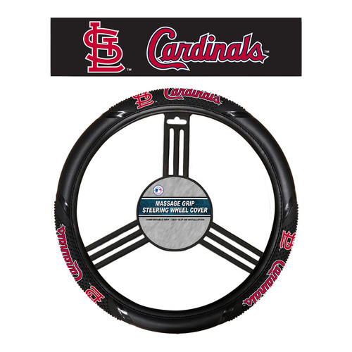 St. Louis Cardinals Steering Wheel Cover Massage Grip Style CO
