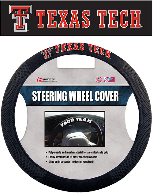 Texas Tech Red Raiders Steering Wheel Cover Mesh Style