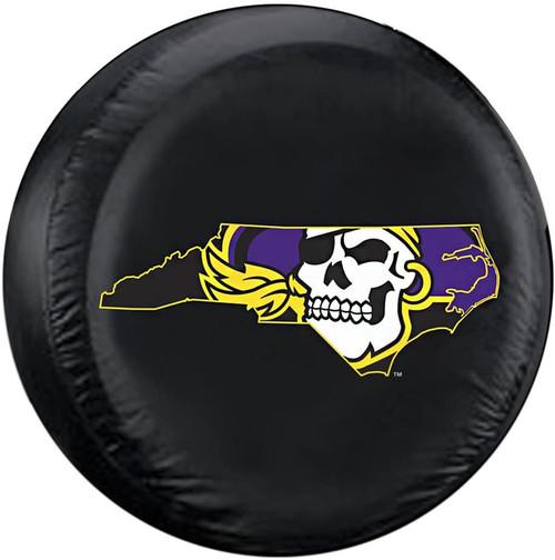 East Carolina Pirates Tire Cover Standard Size Alternate CO