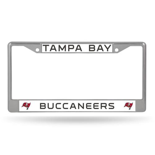 Tampa Bay Buccaneers License Plate Frame Chrome Alternate