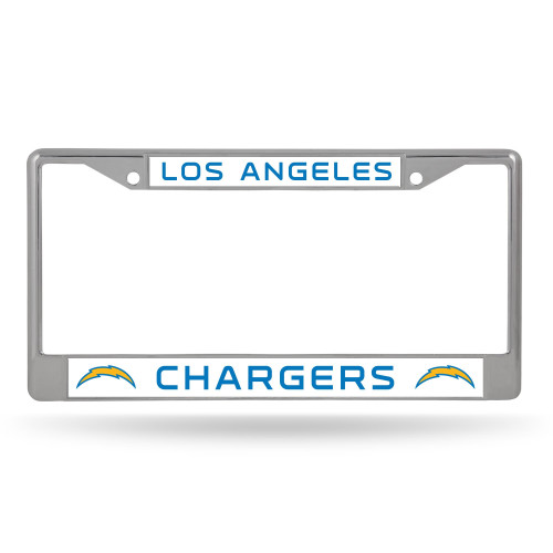 Los Angeles Chargers License Plate Frame Chrome Alternate