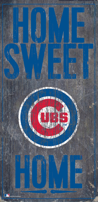 Chicago Cubs Sign Wood 6x12 Home Sweet Home Design