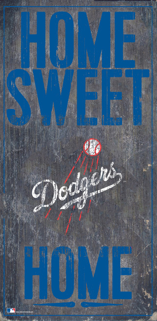 Los Angeles Dodgers Sign Wood 6x12 Home Sweet Home Design